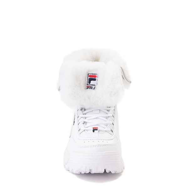 alternate view Fila Disruptor Shearling Boot - Little Kid - WhiteALT4