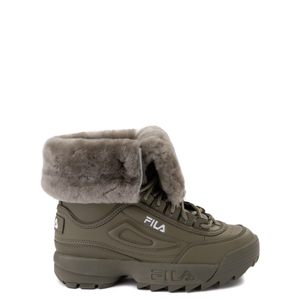 Fila Disruptor Shearling Boot - Big Kid - Olive