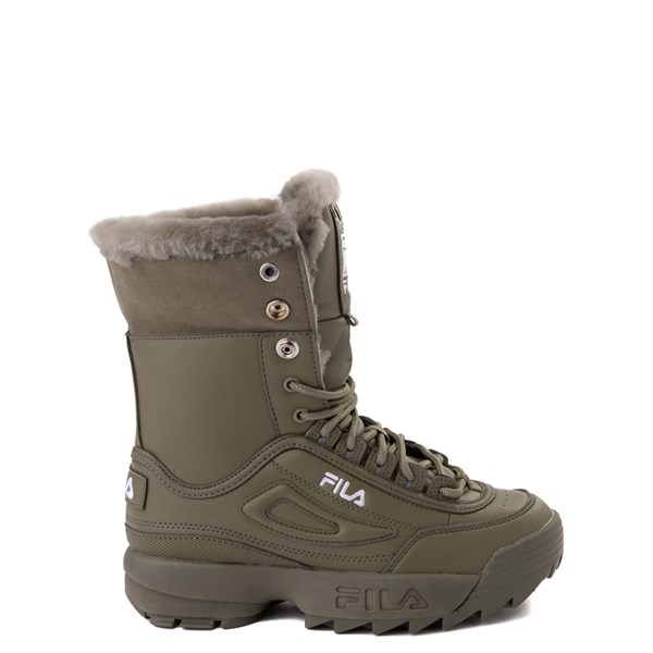 alternate view Fila Disruptor Shearling Boot - Big Kid - OliveALT1
