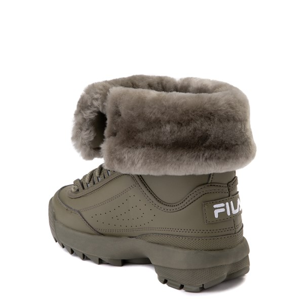 alternate view Fila Disruptor Shearling Boot - Big Kid - OliveALT2