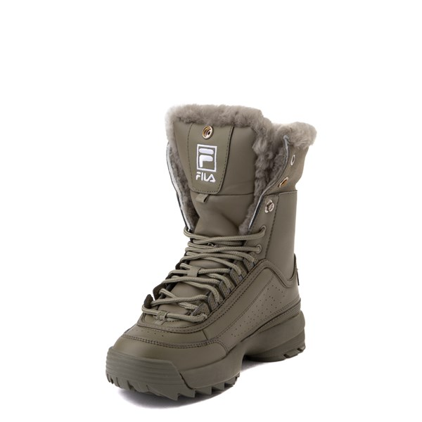 alternate view Fila Disruptor Shearling Boot - Big Kid - OliveALT3