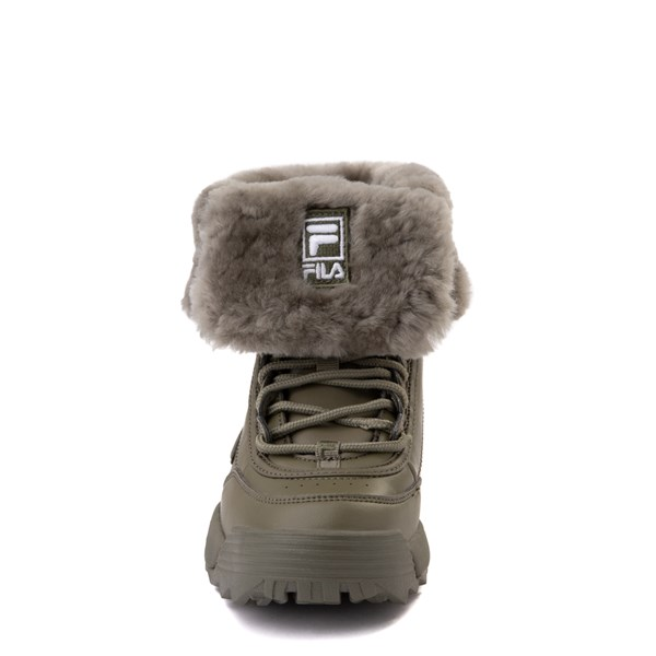 alternate view Fila Disruptor Shearling Boot - Big Kid - OliveALT4