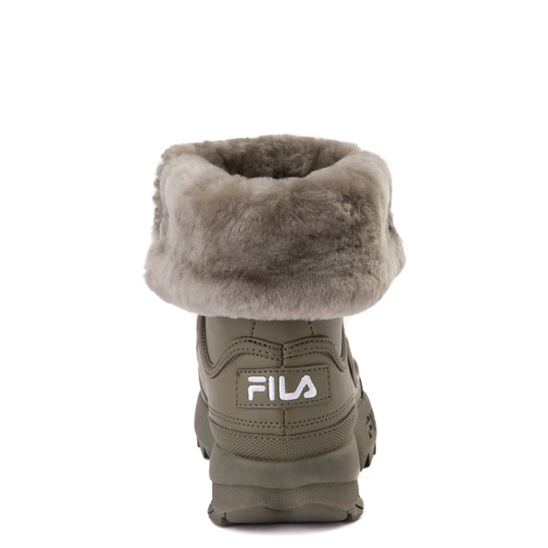 alternate view Fila Disruptor Shearling Boot - Big Kid - OliveALT6