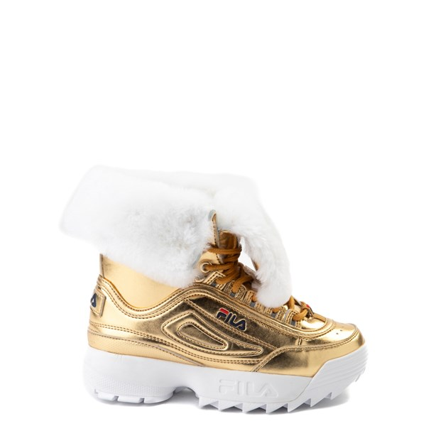 Fila Disruptor Shearling Boot - Little Kid - Gold