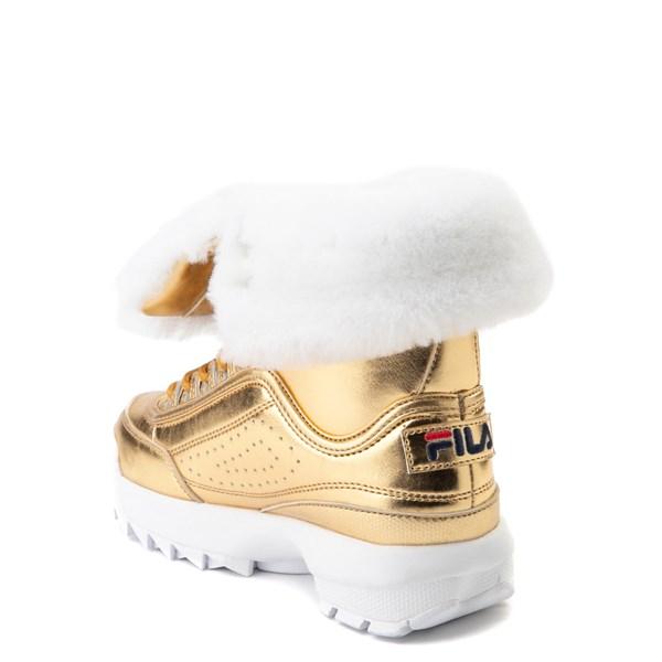 alternate view Fila Disruptor Shearling Boot - Little Kid - GoldALT2
