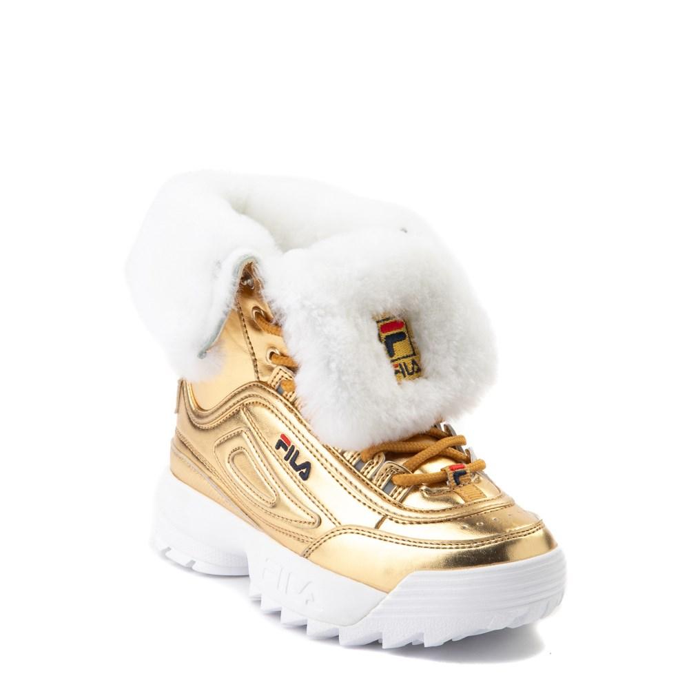 Fila Disruptor Shearling Boot Little Kid Gold