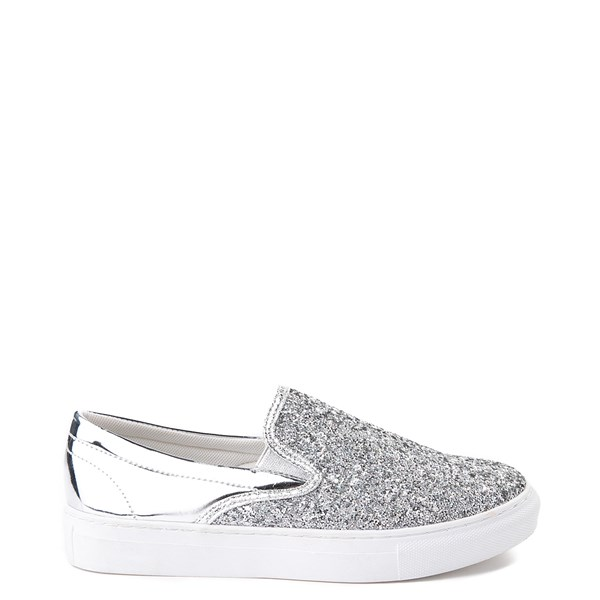 Womens Wanted Spangle Slip On Platform Casual Shoe - Silver