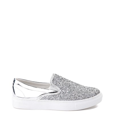 Main view of Womens Wanted Spangle Slip On Platform Casual Shoe - Silver