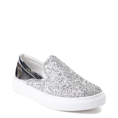 Alternate view of Womens Wanted Spangle Slip On Platform Casual Shoe - Silver