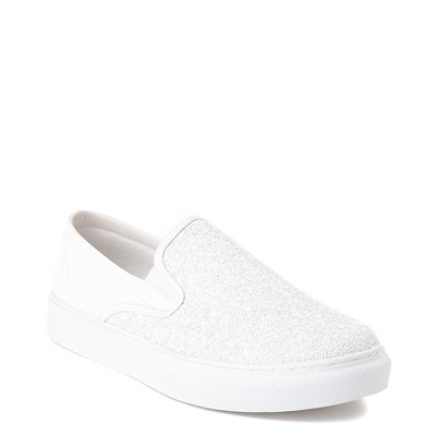Alternate view of Womens Wanted Spangle Slip On Platform Casual Shoe - White