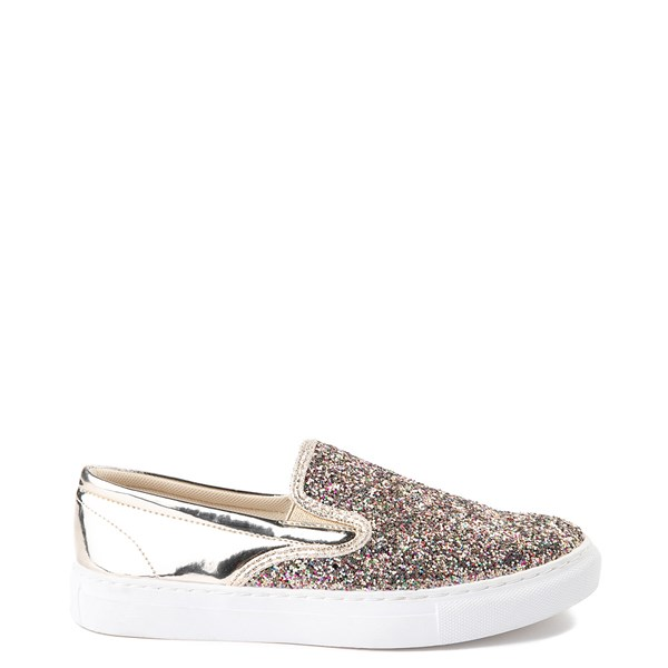 Womens Wanted Spangle Slip On Platform Casual Shoe - Multi