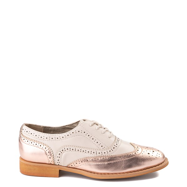 Womens Wanted Babe Oxford Casual Shoe - Nude / Rose Gold