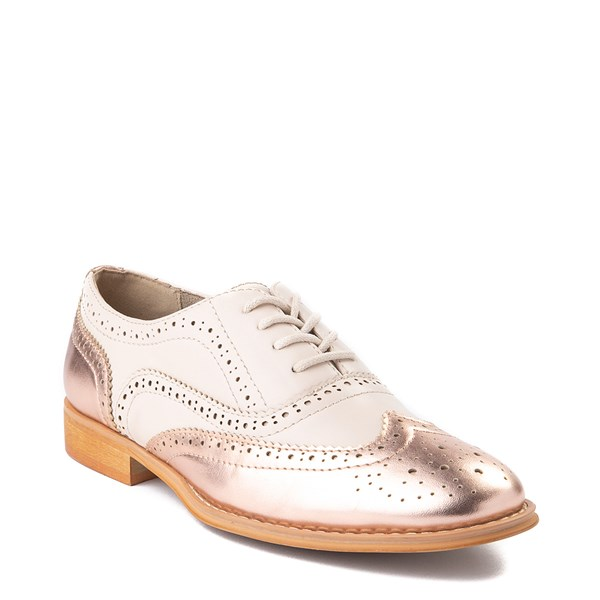 alternate view Womens Wanted Babe Oxford Casual Shoe - Nude / Rose GoldALT1