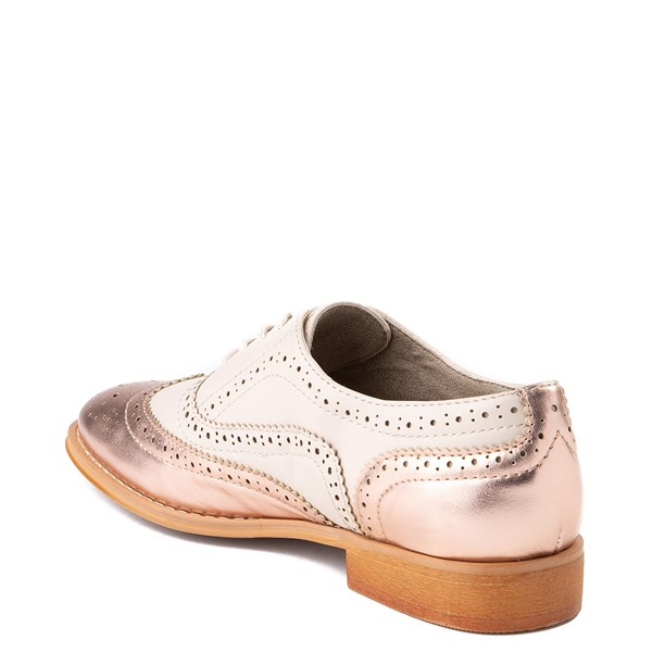 alternate view Womens Wanted Babe Oxford Casual Shoe - Nude / Rose GoldALT2