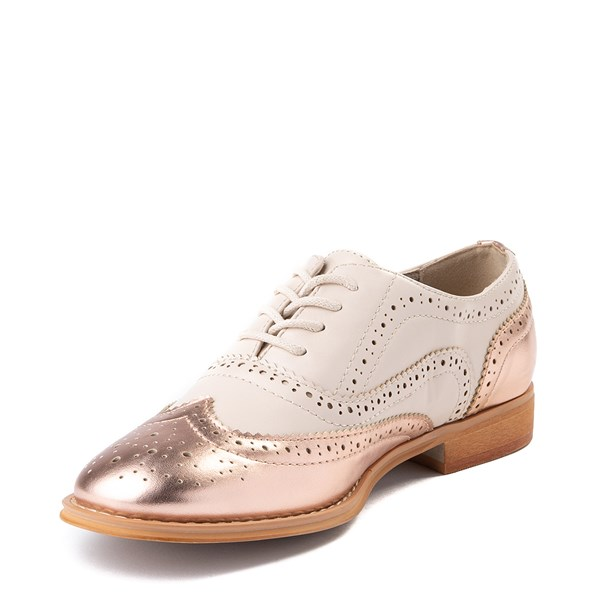 alternate view Womens Wanted Babe Oxford Casual Shoe - Nude / Rose GoldALT3