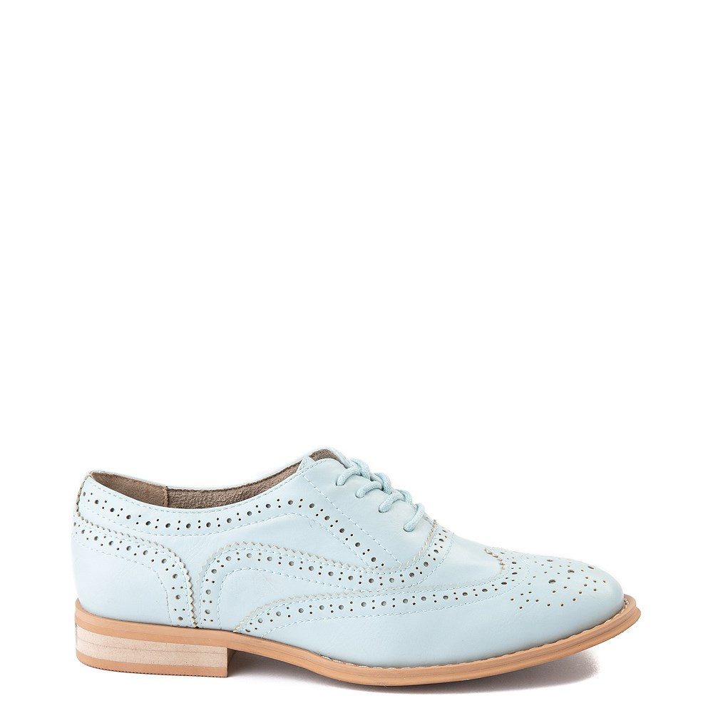 Womens Wanted Babe Oxford Casual Shoe - Sky Blue