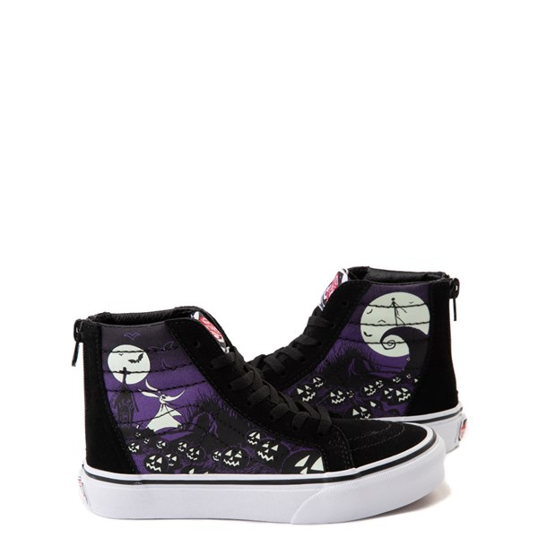 Default view of Vans x The Nightmare Before Christmas Sk8 Hi Zip Jack's Lament Skate Shoe - Little Kid / Big Kid - Black / Multi