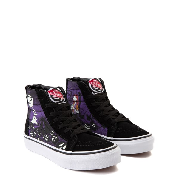 alternate view Vans x The Nightmare Before Christmas Sk8 Hi Zip Jack's Lament Skate Shoe - Little Kid / Big Kid - Black / MultiALT1C