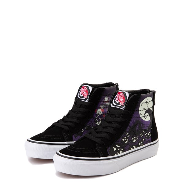 alternate view Vans x The Nightmare Before Christmas Sk8 Hi Zip Jack's Lament Skate Shoe - Little Kid / Big Kid - Black / MultiALT3