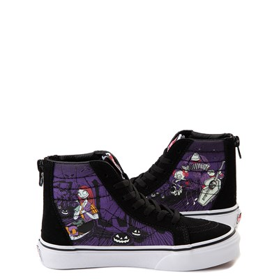 Alternate view of Vans x The Nightmare Before Christmas Sk8 Hi Zip Jack's Lament Skate Shoe - Little Kid / Big Kid - Black / Multi