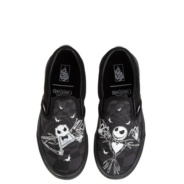 Default view of Vans x The Nightmare Before Christmas Slip On Jack Skellington Skate Shoe - Little Kid / Big Kid - Black / Glow