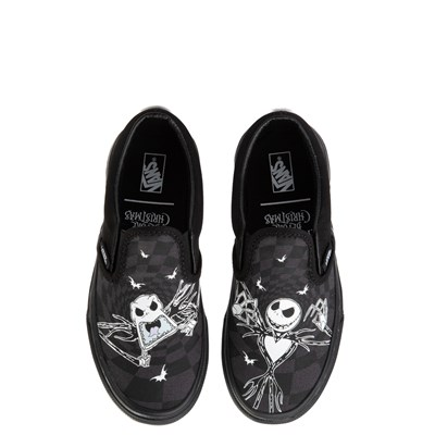 Main view of Vans x The Nightmare Before Christmas Slip On Jack Skellington Skate Shoe - Little Kid / Big Kid - Black / Glow