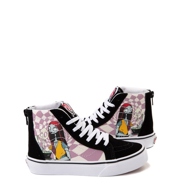 Vans x The Nightmare Before Christmas Sk8 Hi Zip Sally's Potion Skate Shoe - Little Kid / Big Kid - Black / Multi