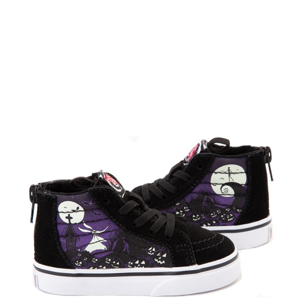 Default view of Vans x The Nightmare Before Christmas Sk8 Hi Zip Jack's Lament Skate Shoe - Baby / Toddler - Black / Multi