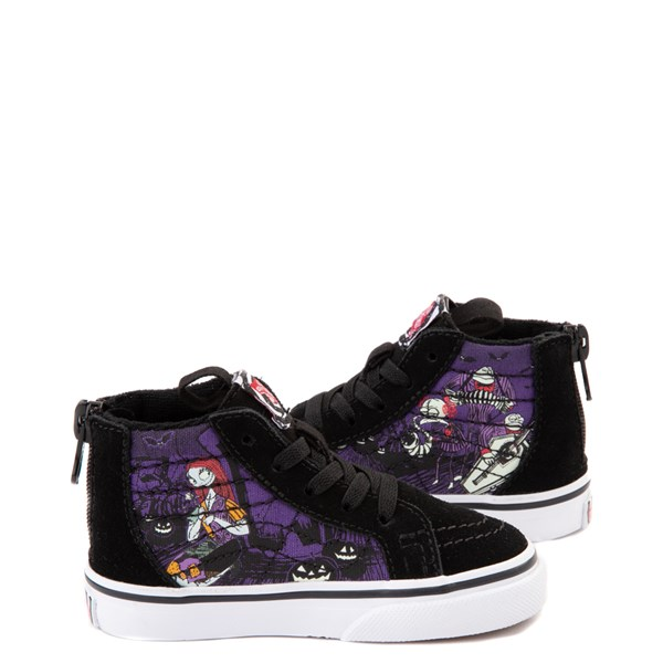 alternate view Vans x The Nightmare Before Christmas Sk8 Hi Zip Jack's Lament Skate Shoe - Baby / Toddler - Black / MultiALT1