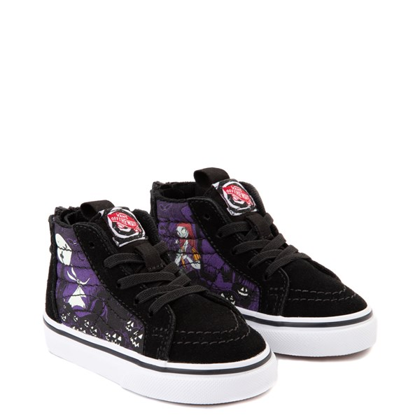alternate view Vans x The Nightmare Before Christmas Sk8 Hi Zip Jack's Lament Skate Shoe - Baby / Toddler - Black / MultiALT1C