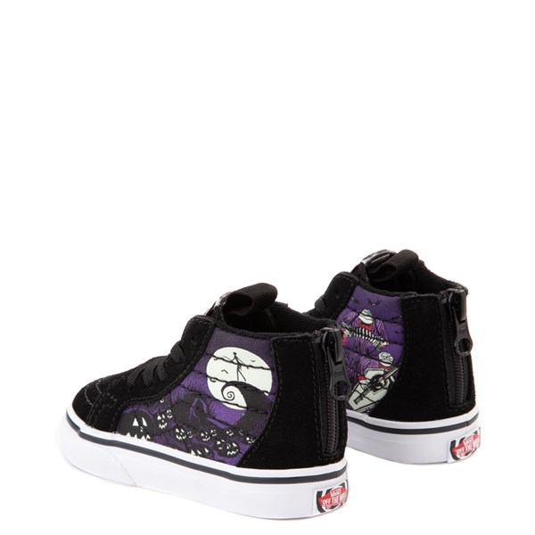 alternate view Vans x The Nightmare Before Christmas Sk8 Hi Zip Jack's Lament Skate Shoe - Baby / Toddler - Black / MultiALT2
