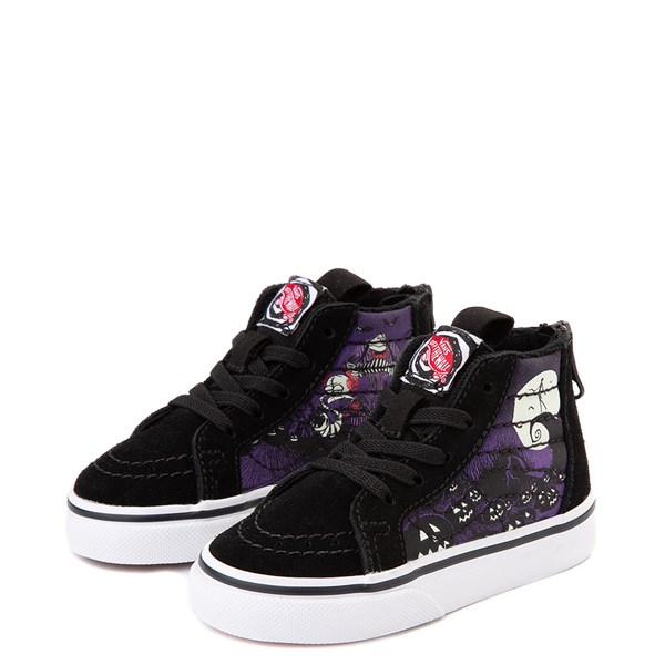 alternate view Vans x The Nightmare Before Christmas Sk8 Hi Zip Jack's Lament Skate Shoe - Baby / Toddler - Black / MultiALT3