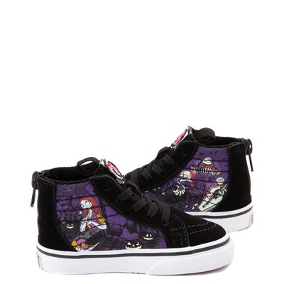 Alternate view of Vans x The Nightmare Before Christmas Sk8 Hi Zip Jack's Lament Skate Shoe - Baby / Toddler - Black / Multi