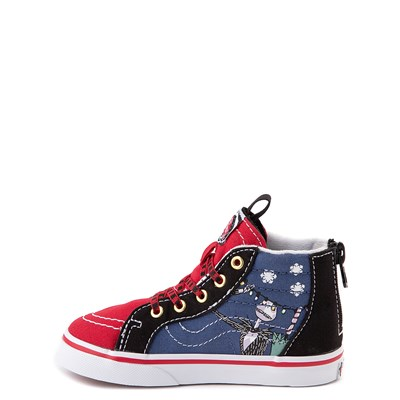 Alternate view of Vans x The Nightmare Before Christmas Sk8 Hi Zip Christmas Town Skate Shoe - Baby / Toddler - Red / Multi