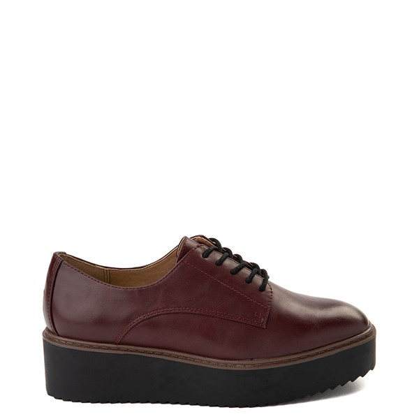 Womens Madden Girl Written Platform Casual Shoe - Burgundy