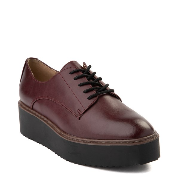 alternate view Womens Madden Girl Written Platform Casual Shoe - BurgundyALT1