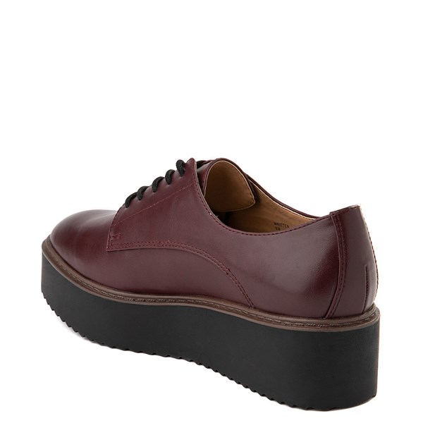 alternate view Womens Madden Girl Written Platform Casual Shoe - BurgundyALT2