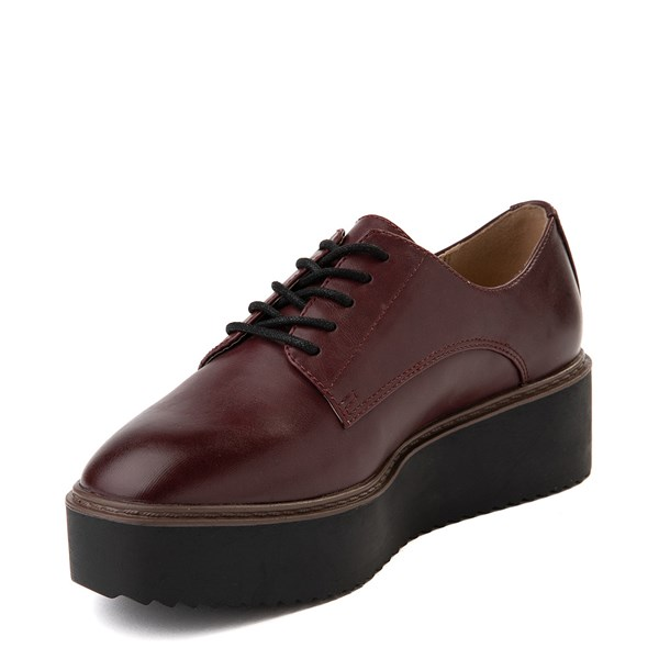 alternate view Womens Madden Girl Written Platform Casual Shoe - BurgundyALT3