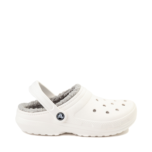Default view of Crocs Classic Fuzz-Lined Clog - White / Gray