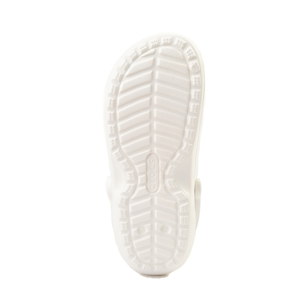 alternate view Crocs Classic Fuzz-Lined Clog - White / GrayALT3