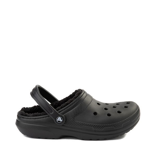 Main view of Crocs Classic Fuzz-Lined Clog - Black