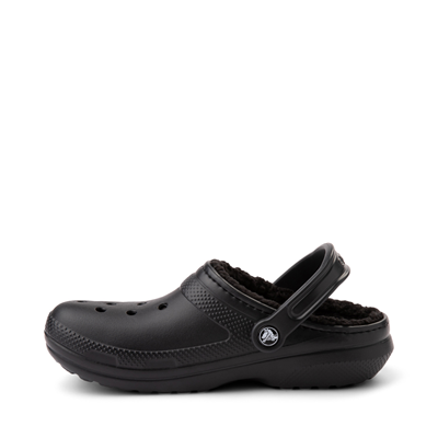 Alternate view of Crocs Classic Fuzz-Lined Clog - Black