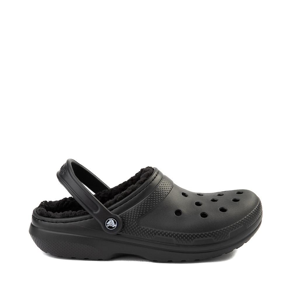 Crocs Classic Fuzz-Lined Clog - Black