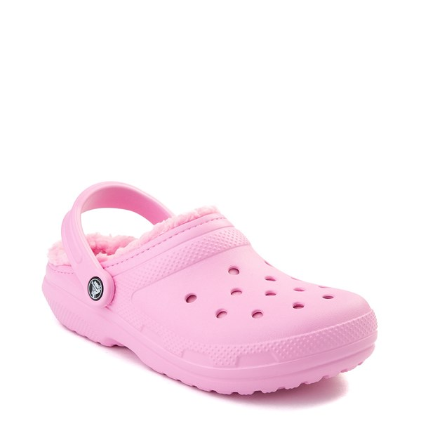 alternate view Crocs Classic Fuzz-Lined Clog - CarnationALT1