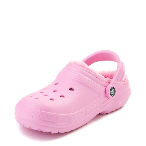 alternate view Crocs Classic Fuzz-Lined Clog - CarnationALT3