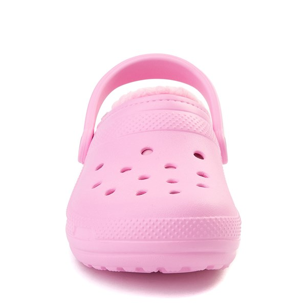 alternate view Crocs Classic Fuzz-Lined Clog - CarnationALT4