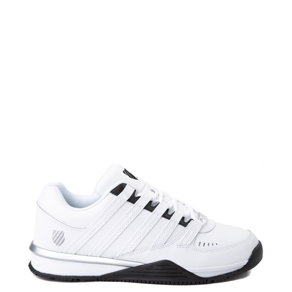 Mens K-Swiss Baxter Athletic Shoe - White / Black / Silver