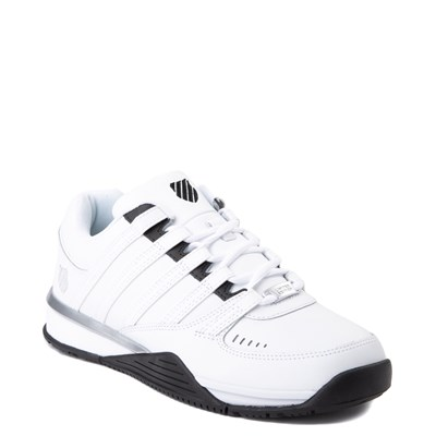 Alternate view of Mens K-Swiss Baxter Athletic Shoe - White / Black / Silver