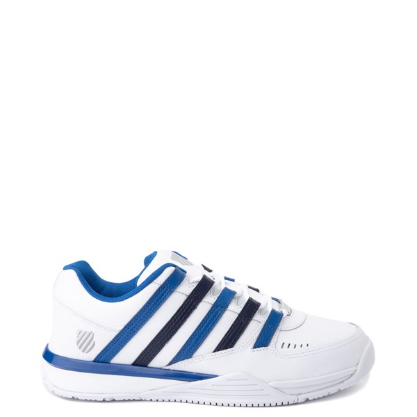 Mens K-Swiss Baxter Athletic Shoe - White / Blue / Navy