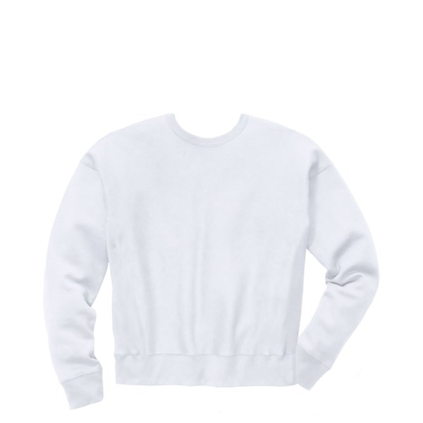 alternate view Womens Champion Reverse Weave Crew Sweatshirt - WhiteALT1